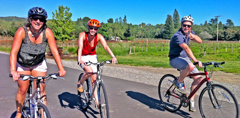 Explore Napa Valley by bike and enjoy Napa valley wine tasting with Gears and Grapes guided bike tours of top Napa Valley wineries.